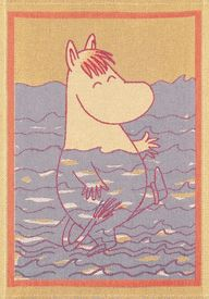 Moomin tea towel.