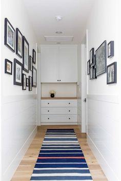 Long hallway decor narrow hallway hallway wall decor ideas hallway wall d. Furniture, Small Spaces, Linen Closet, Built Ins, Hallway Storage, Home Decor, Hallway Wall Decor, Hallway Cabinet, Hallway Designs