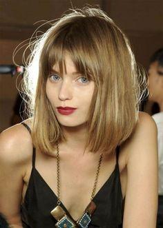 Easy Medium Length Hairstyles with Bangs on Blonde Hair
