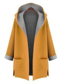 Shop Floryday for affordable Coats. Floryday offers latest ladies' Coats collections to fit every occasion. Ärmelloser Mantel, Mode Mantel, Vintage Hipster, Damen Mantel Winter, Coats For Women, Clothes For Women, Ladies Coats, Robes Vintage, Hooded Winter Coat