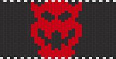 Bowser Symbol bead pattern