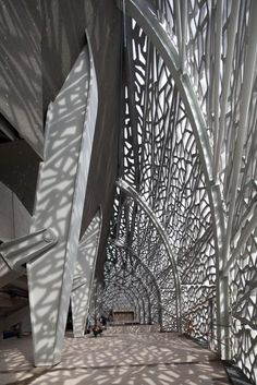 Concrete latticework designed by architect Rudy Ricciotti and made of our Ductal concrete