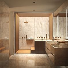 (ignore color palette.) this inset bathtub/shower setup?? so spa-like.