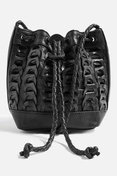 Leather Braided Mini Bucket Bag - Topshop