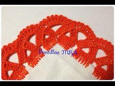 Puntilla para servilleta MRA Lizet Sanchez 2 - YouTube