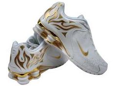 9a17996a02ab56 Women s Nike Shox Torch Running Sneakers. In GOLD too!! Love shiny! Nike