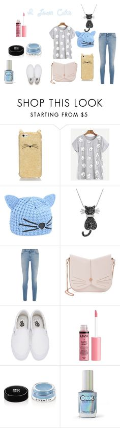 """I love cats"" by carcar122204 ❤ liked on Polyvore featuring Kate Spade, Karl Lagerfeld, Amanda Rose Collection, Givenchy, Ted Baker, Vans, Charlotte Russe, Color Club and cats"