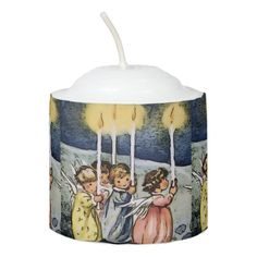 Shop lovely angels votive candle created by MehrFarbeImLeben. Christmas Candles, Christmas Eve, Votive Candles, Candle Holders, Angels, Santa, Lights, Family Kids, Merry Xmas