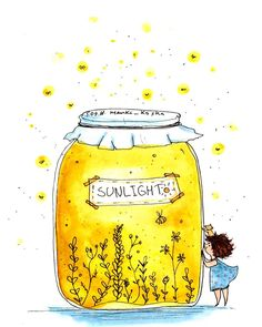 Sunlight in a Jar Watercolor