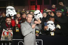 """Ben Mendelsohn Photos Photos - Actor Ben Mendelsohn takes a selfie with fans at The World Premiere of Lucasfilm's highly anticipated, first-ever, standalone Star Wars adventure, """"Rogue One: A Star Wars Story"""" at the Pantages Theatre on December 10, 2016 in Hollywood, California. - The World Premiere of 'Rogue One: A Star Wars Story'"""