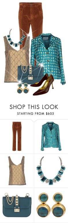 """Pattern Mixing Prada"" by shamrockclover ❤ liked on Polyvore featuring Prada, Valentino, Vaubel, Giovanni Monte and polyvoreeditorial"