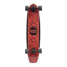 Skateboard-Quest-35-inch-Inked-Longboard-Kick-Tail-Tribes-Pin-Native-Spirit-New