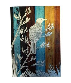 This Tui Bird Art Panel is a print cleverly printed onto composite aluminium panel. The and Flax design silver, over rustic looking wood panelling. Design, Maori Art, Painting, Panel Art, Art, Prints, Bird Art, Nz Art