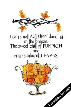 I Can Smell Autumn Dancing Free Printable