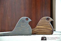 Scrap wood bird doorstops 3 - 5