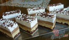 Kinder Bueno Schnitte – macht süchtig The best dessert I've ever baked. Muffin Recipes, Baking Recipes, Dessert Recipes, Sweet Desserts, Sweet Recipes, Austrian Recipes, Cream Cheese Recipes, Food Humor, Fancy Cakes
