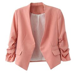 Amoin Style Women's Blazer Jacket Suit Work Casual - Brought to you by Avarsha.com
