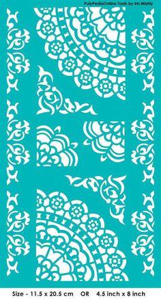 16 Ideas For Screen Printing Stencil Etsy Polymer Clay Mandala Motif, Mandala Stencils, Stencil Patterns, Mandala Pattern, Stencil Designs, Painting Patterns, Embroidery Patterns, Hand Embroidery, Painting Templates