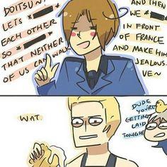 Hetalia Anime Tumblr Manga Fanart Hetalia Anime, Hetalia Funny, Spamano, Usuk, Hetalia Germany, Hetaoni, Germany And Italy, Jokes Pics, Axis Powers