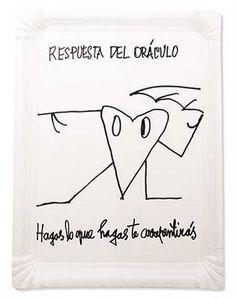 """""""Respuesta del Oráculo   Hagas lo que hagas te arrepentirás"""" Nicanor Parra Text Quotes, Literature, Bullet Journal, Chile, Google, Zero, Fandoms, Characters, Happy"""