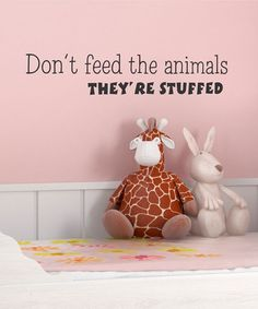'Don't Feed the Animals' Wall Decal by Belvedere Designs on #zulily!
