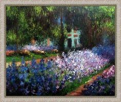 """""""O Jardim do Artista"""" de Monet emoldurada"""