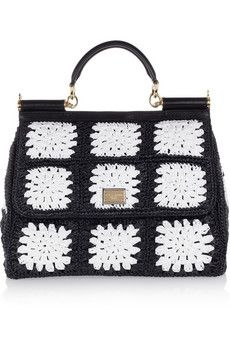 Miss Sicily crocheted tote by Dolce & Gabbana