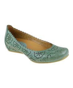 Love this Fern Bindi Leather Flat on #zulily! #zulilyfinds