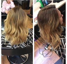 Blonde and brown ombre