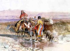 Thirsty Oil by Charles Marion Russel kp Helena Montana, Native American Artists, Native American Indians, Western Artists, Native Indian, Sioux, Missouri, Charles Marion Russell, Illustrator