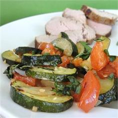 Roasted Garlic Zucchini and Tomatoes - Allrecipes.com