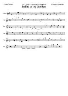 Sheet music made by Linaru for Violin