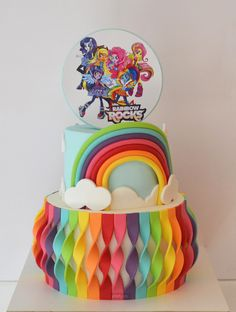 My Little Pony: Equestria Girls - Rainbow Rocks Cake Little Pony Birthday Party, Birthday Cake Girls, Pony Party, Mlp Cake, Cupcake Cakes, Movie Cakes, My Little Pony Cake, Girl Cakes, Cute Cakes