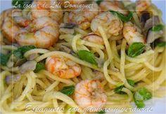 Espaguetis con gambas y verduras, deliciosos y tan rápidos de preparar que no tendrás excusa para hacerlos. (Si te gustan mis recetas dime HOLA y comparte, muchas gracias)  Receta en mi Blog: http://lacocinadelolidominguez.blogspot.com.es/2015/03/espaguetis-con-gambas-y-verduras.html Videoreceta en You Tube: https://www.youtube.com/watch?v=_DxXWPpes8o