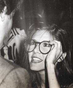 heatherramaekers: Carrie trying on Harrison's glasses