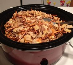 Make Homemade Chex Mix in the Crockpot.