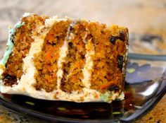 This carrot cake is... Fabulous. I have to say. It has definitely earned the stamp of approval from not only my GF sister, but the rest of my friends and family as well! Success! Give it a try! :)