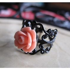 in love. Favorite color and a flower ring. can't get any better.