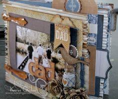 scrapbooking fathers day Dad Mini Album {Authentique Paper}
