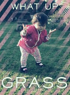What Up Grass - Cute Little Girl a Cool Swag Princess  ---- best hilarious jokes funny pictures walmart humor fail