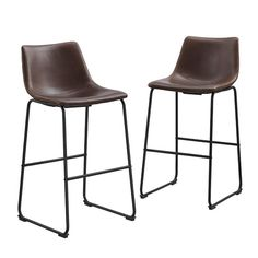 Add trendy contemporary design to your home with the stylish Faux Leather Bar and Counter Stools from Forest Gate. Featuring a chic faux leather seat and powder-coated steel legs, creating a sophisticated modern touch to your kitchen or family room.