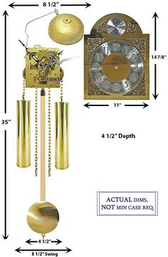 Mechanical Clock Kits - Build a Grandfather Clock with Ease : Clockworks Grandfather Clock Kits, Mechanical Clock, Bell Design, Chain Drive, Clock Movements, Clock Parts, Wind Chimes, Clocks, Country