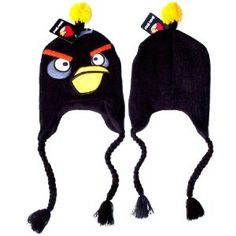 94ad5d529a6 Angry Birds Bomb Black Bird Plush Beanie Embroidered Laplander Earflap  Winter Fleece Knit Ski Cap Hat   Officially Licensed Product By Rovio