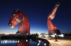 The Kelpies, Falkirk. | 28 Haunting Photos That Prove Scotland Is Even More Beautiful At Night