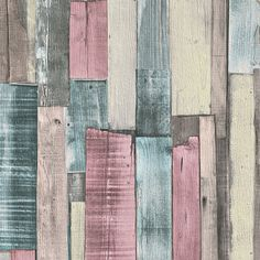 Papel pintado imitación madera multicolor PDD521868715