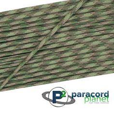 Paracord Planet - Multi Camo - 550 Paracord 25', Multicolor