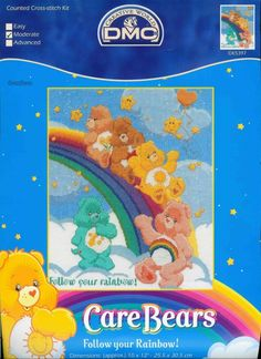 'Follow Your Rainbow' Care Bears cross stitch 1/5