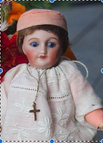 """antique mignonnette biscuit hand made dress NBcréations blog """"trotinette-et-coccinelle"""""""