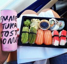 food drink fish sushi healthy fit love it lunch energy avocado swedish get fit healthy fat femme boost engery drink get healthy girly energy drink sushitime sushi lunch I Love Food, Good Food, Yummy Food, Tasty, Onigirazu, Food Goals, Aesthetic Food, I Foods, The Best