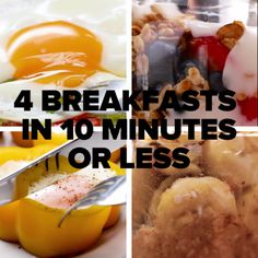 4 Breakfasts In 10 Minutes or Less // #breakfast #quick #food #goodful